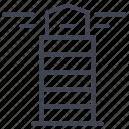 building, house, light, lighthouse, marine, sea, tower icon