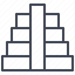 building, estate, pyramid, real, stairs icon