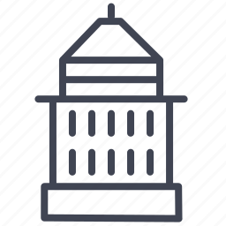 architecture, building, construction, estate, tower, water icon