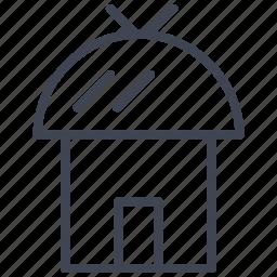 architecture, building, construction, estate, hut, real icon