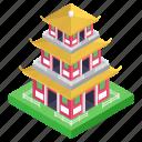 architecture, building, pagoda, saigon, structure, temple icon