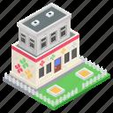 architecture, commercial building, edifice, exterior, nursery icon