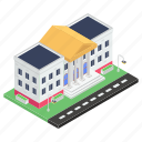 city hall, courthouse, government building, courtroom, court building icon