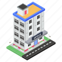office, commercial building, condo, architecture, building, business center icon