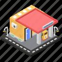 filling station, fuel station, gas station, petrol pump, petroleum station icon