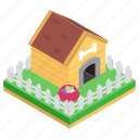 animal house, doghouse, dogshed, kennel, pet home, shelter icon