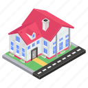 accomodation, bungalow, home, homestead, house, residence icon