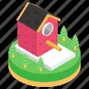 bird home, birdhouse, habitat, nestbox, roosting place, shelter icon