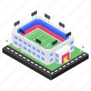 architecture, building, sports arena, sports center, stadium icon