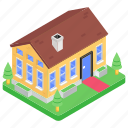 accomodation, homestead, old building, old home, old house, residence icon