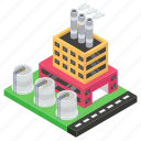 factory outlet, industry, manufacturer, mill, nuclear plant icon