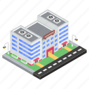 commercial center, mall, plaza, shopping center icon