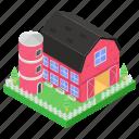 farmhouse, homestead, accommodation, house barn, townhouse, residence icon