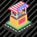 ice cream cart, ice cream stall, ice cream stand, kiosk, street vending icon
