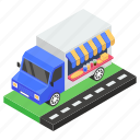 delivery van, fast delivery, fast food, food delivery, food truck icon