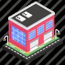 architecture, building, business center, workroom, workshop icon