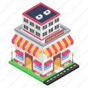 bistro, commercial building, eatery, eating house, pizza restaurant icon