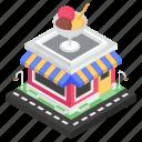 building, ice cream parlor, ice cream shop, ice cream store, marketplace