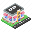bistro, commercial building, eatery, eating house, restaurant icon
