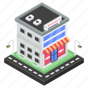 bakery building, donut shop, donut store, marketplace, outlet