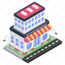 bistro, commercial building, eatery, eating house, seafood restaurant icon