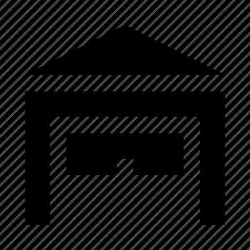 car, estate, garage, open icon