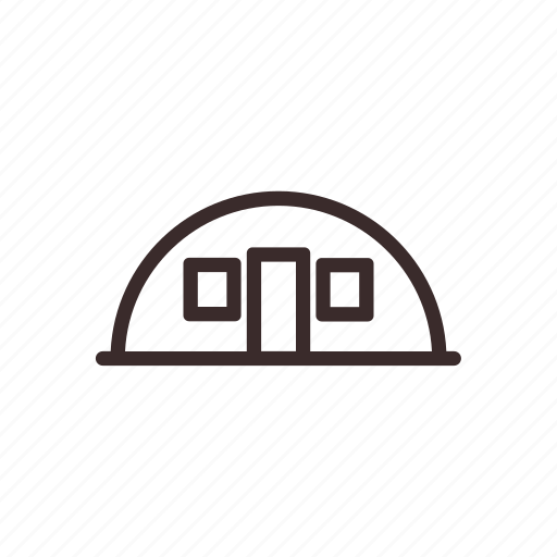 architecture, camping, city, tent icon