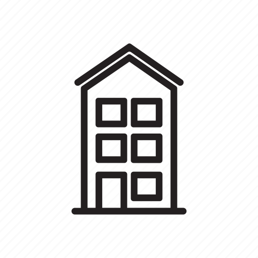 apartment, architecture, building, house icon