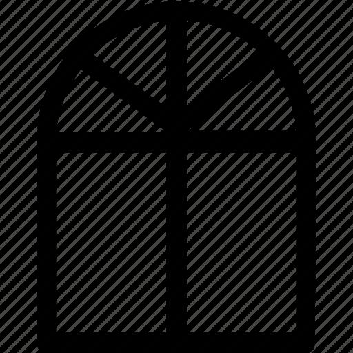 home, hotel, house, room, window icon
