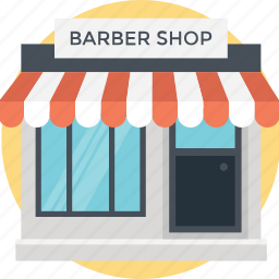 barbars place, barber shop, beauty parlour, pampering area, salon icon
