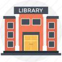 library, modern buildings, modern library, readers point, study area icon