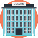 huge building, library, massive library, modern library, readers point icon