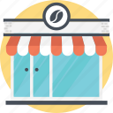 cafe, coffee shop, junkfood shop, small building, small restaurant icon