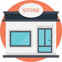 grocery point, low-rise building, mall, shopping area, store building icon