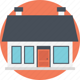 low-rise building, mail house, post office, postal service, small building icon