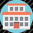 faculty department, institution, modern school, nursing school, school building icon