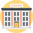 cinema, lecture hall, modern cinema, movie area, theater building icon