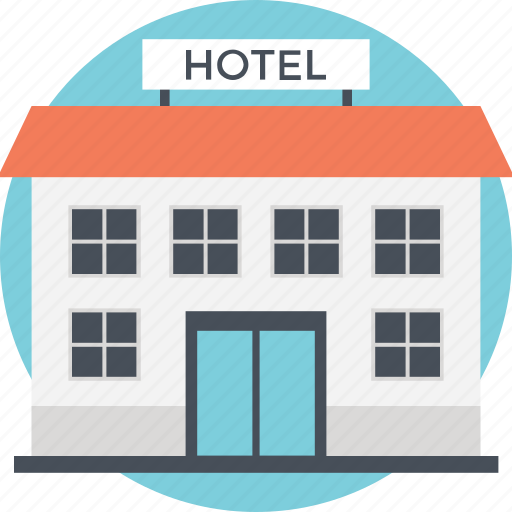 building, compact structure, dining point, hotel, low-rise building icon