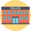 jail, police station, prison, small building, two stories icon