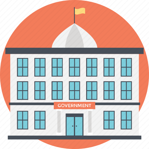 government building, government office, massive structure, office area, workplace icon