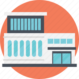 low-rise building, mall building, massive building, shoping store, shopping malls icon