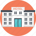 high-rise building, hotel building, massive building, restaurant, shopping store icon
