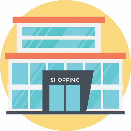 grocery store, mall building, massive building, shoping store, shopping malls icon