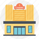 actors place, cinema building, lecture hall, massive building, modern building icon