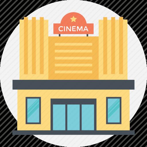 actors place, cinema building, lecture hall, massive building, modern building icon
