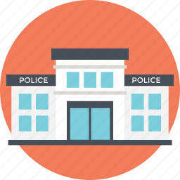 jail, police station, prison, small building, three stories icon