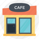 cafe, cafeteria, canteen, restaurant, snack bar icon