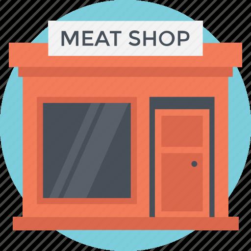 butcher shop, hut, meat shop, shop, small house icon