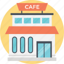 cafe, cafe building, cafeteria, coffee house, snack bar icon