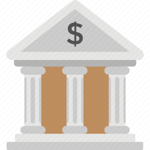 bank, bank building, bank exterior, commercial building, financial institution icon